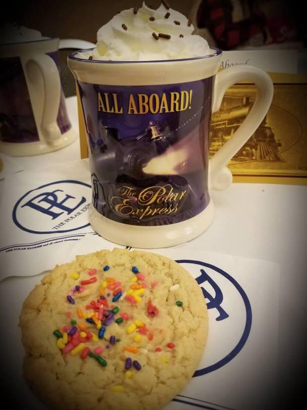 Baldwin, Kansas Polar Express - souvenir mug of hot chocolate and cookie