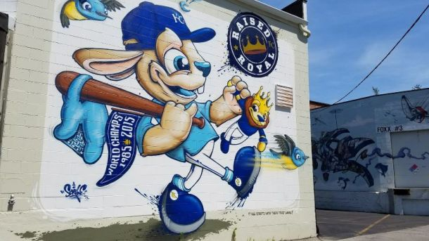 Kansas City Royals - Raised Royal mural