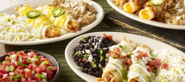 Kansas City food deals - plate of On the Border enchiladas
