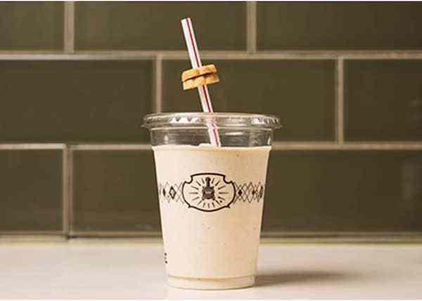 Potbelly Sandwich shop - shake with a straw