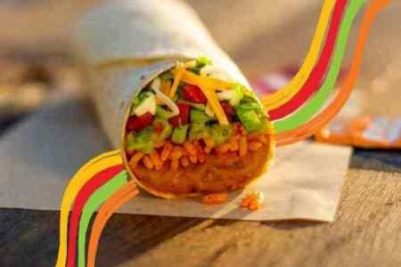 Taco bell $1 cravings menu - burrito