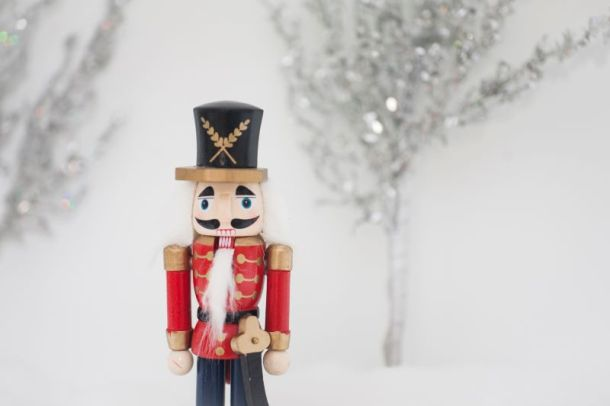 Cool to be blue holiday boutique - nutcracker in snow