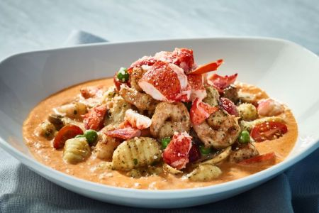 Kansas city restaurant deals - plate of lobster gnocchi at Bonefish Grill
