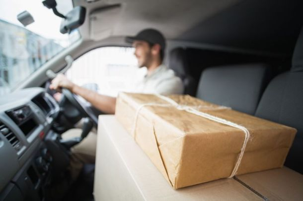 Amazon prime membership discount for Veterans - delivery driver in van with packages