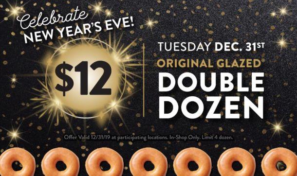 Krispy Kreme New Year's Eve deal