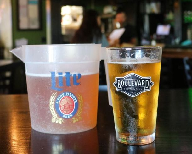 Kansas City Super Bowl watch parties - pitcher and a glass of beer
