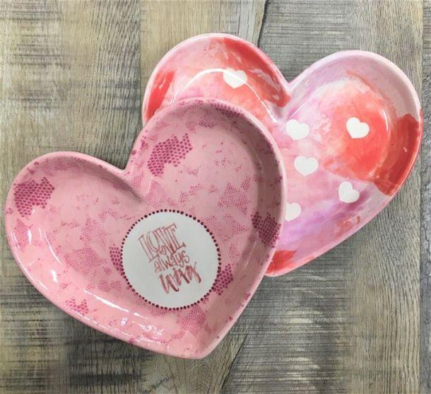 Valentine's Day Fun in Kansas City - ceramic heart dishes
