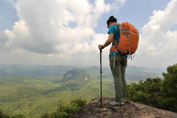North Face discounts - solo hiker on a mountain