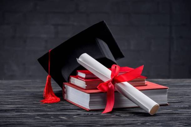 Freebies and Deals for Graduating Seniors in Kansas City - image of graduation cap and diploma on a stack of books