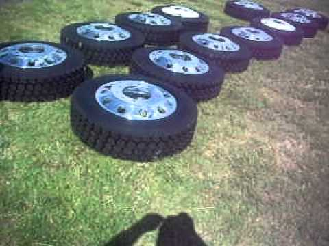 Alcoa Semi Wheels- Goodyear G622 semi tires- Forgitron Semi wheels-