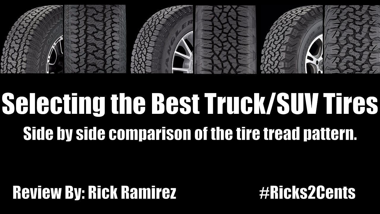 Best Truck SUV Tires 2017!!! Winter Tires!!! Side by Side Comparison of the tire tread pattern.
