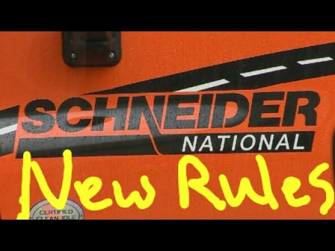 Schneider National new rules for sign on.