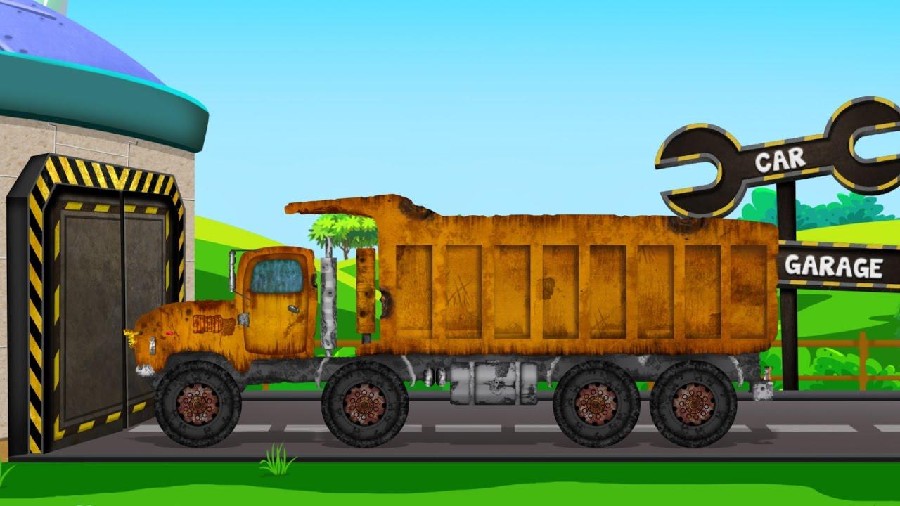 Gravel Truck | Rusty Garage | Car Repair Video For Kids