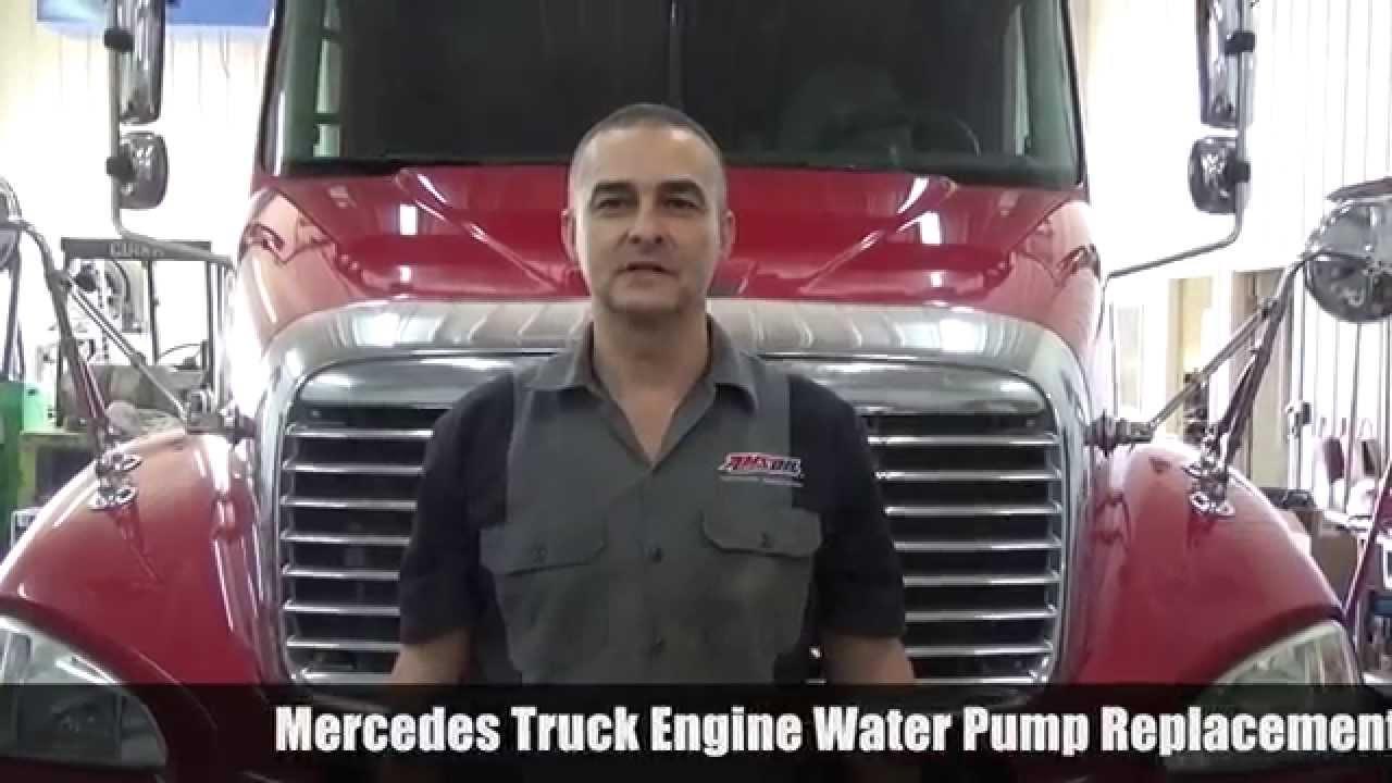 OM460 Mercedes Truck Engine Water Pump Replacement