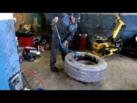 How to repair truck tire