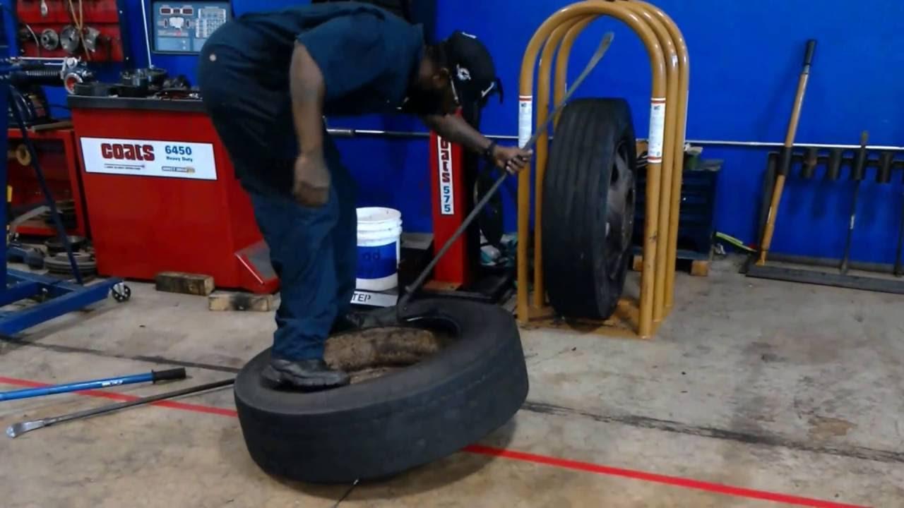 semi-truck tire change