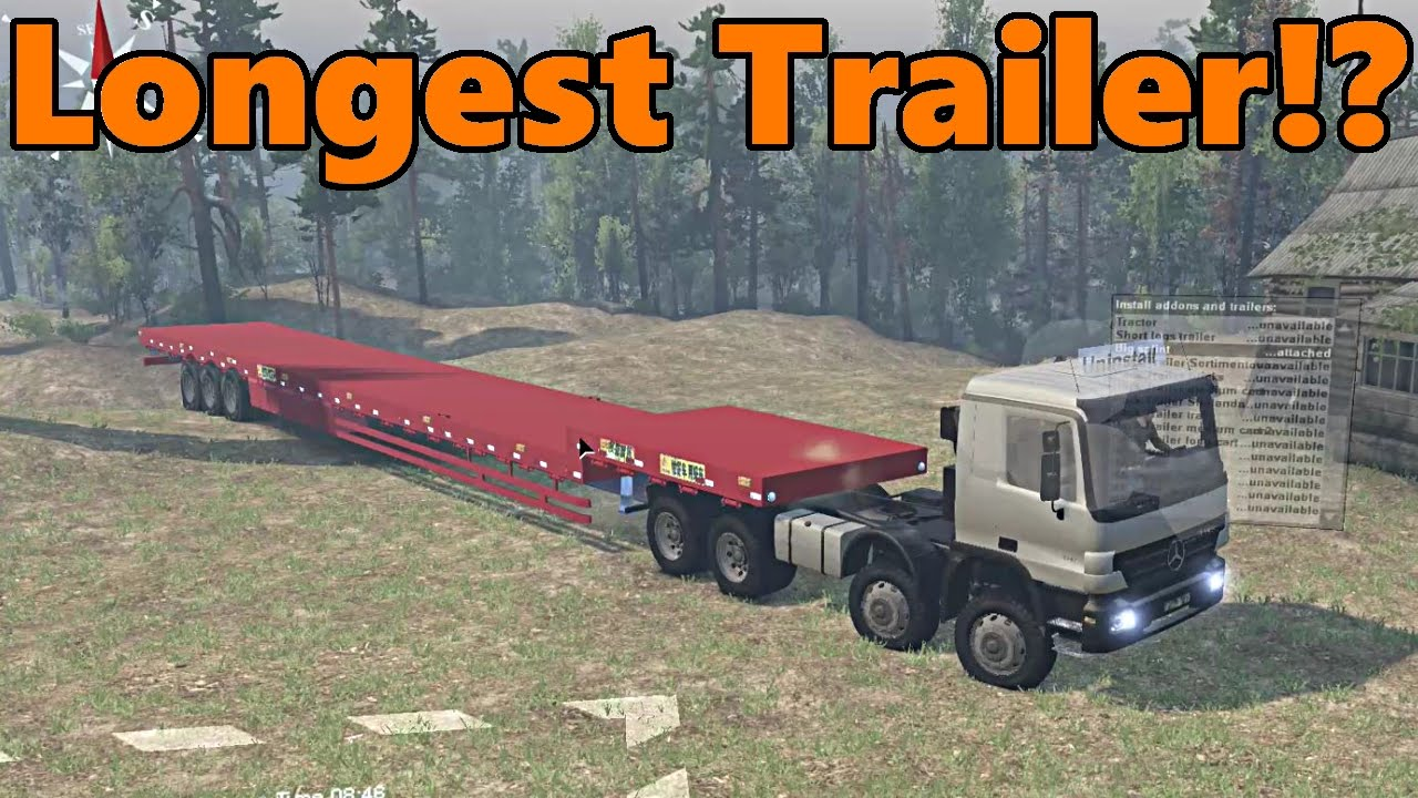 Spin Tires | Mercedes Actros, LONGEST TRAILER!?