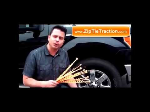 Zip Grip Go zip tie tire traction device for snow or sand