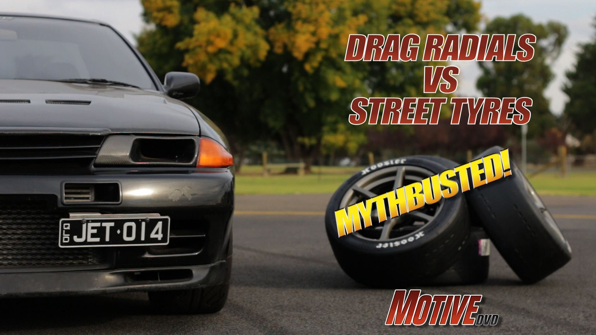 MYTHBUSTED Drag Radial vs Street Tyre Motive Garage Project Budget Supercar R32 GT-R Pt13