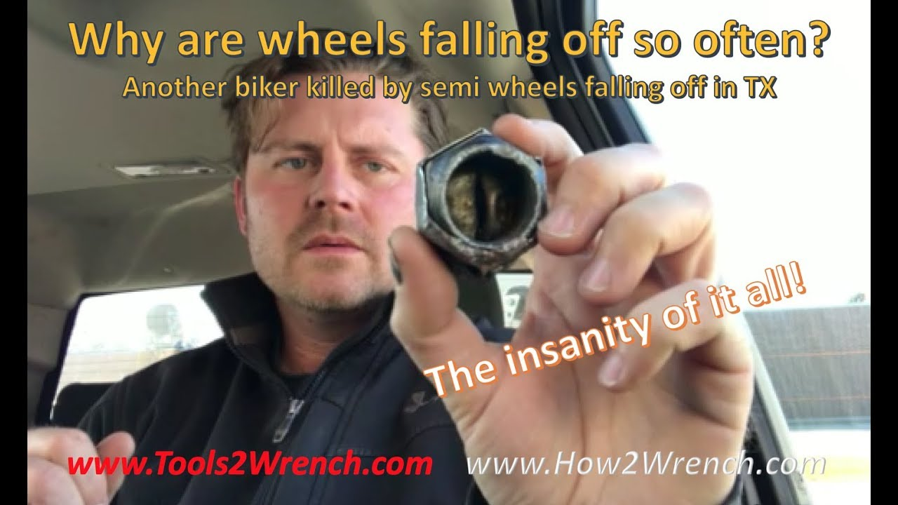 How are wheels and tires falling off cars, trucks, and semis so often?