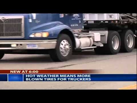 Major Truck Tire Blowout on the Local News!