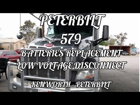 PETERBILT 579 battery replacement low voltage disconnect PETERBILT Kenworth