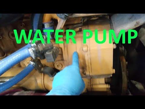 semi truck water pump repair