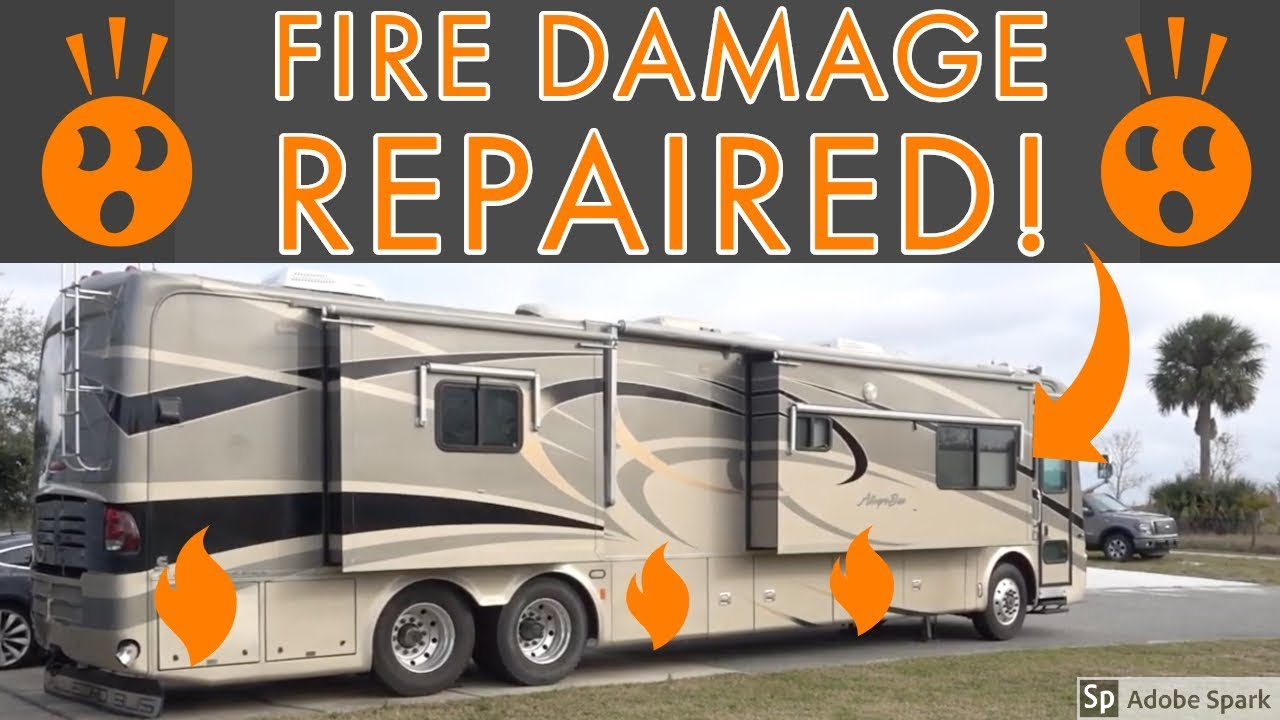 Repair Complete on the Fire Damaged Salvage RV from Copart!