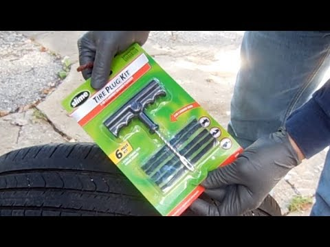Nails in tire ---- repair using plugs