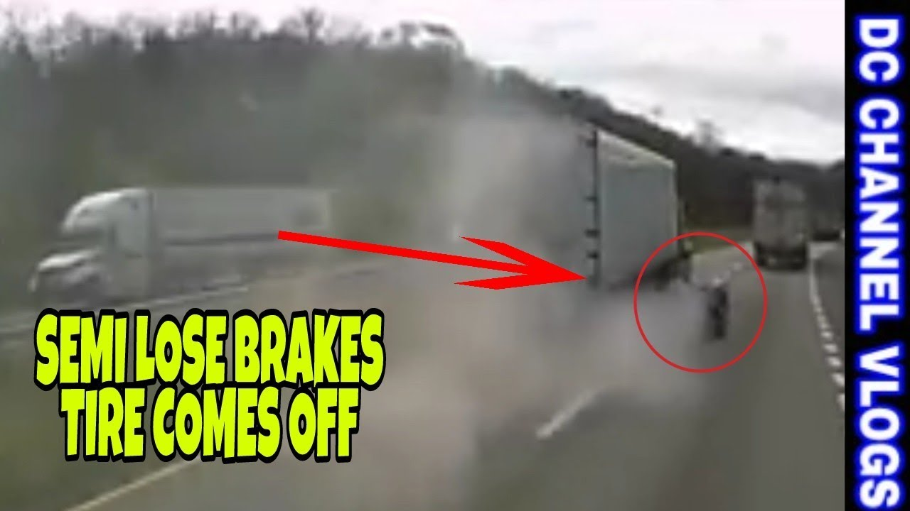 SEMI TRAILER TIRE BLOWN OFF VLOG