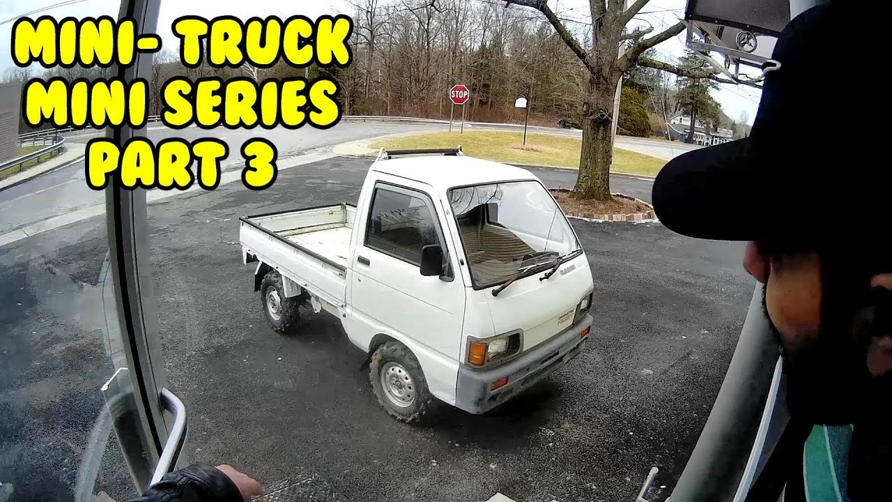 Mini Truck mini series, 3 inch lift? 23 inch tires, Test on road off-road  HiJet (Part 3)