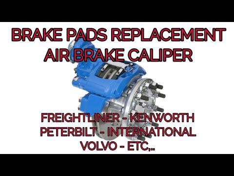 Air brake disc brake pads replacement Freightliner Kenworth Volvo international PETERBILT