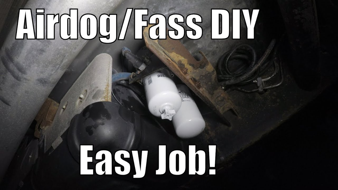 How To Change Airdog & Fass Water Seperator & Fuel Filter For Duramax Trucks...Very Important!f