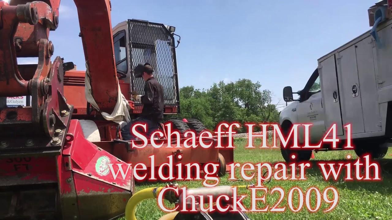 Excavator boom kunckle welding repair w/ ChuckE2009