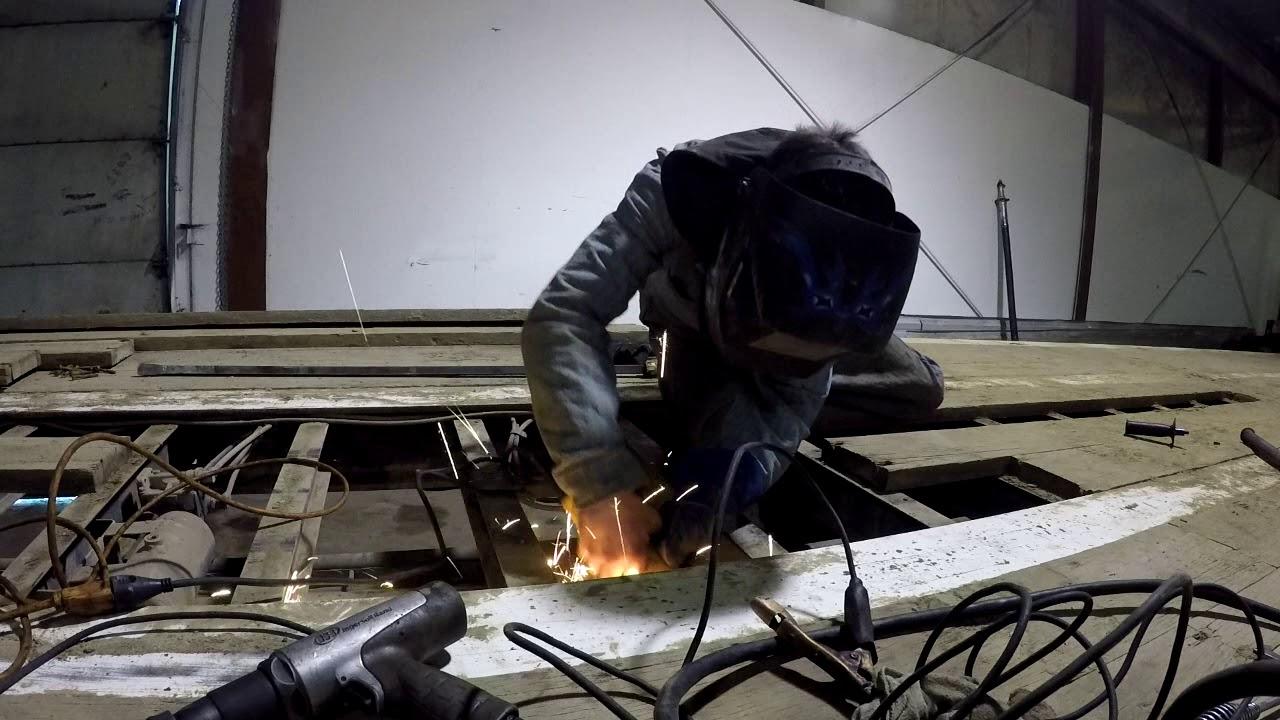 Repairing spread axle trailer