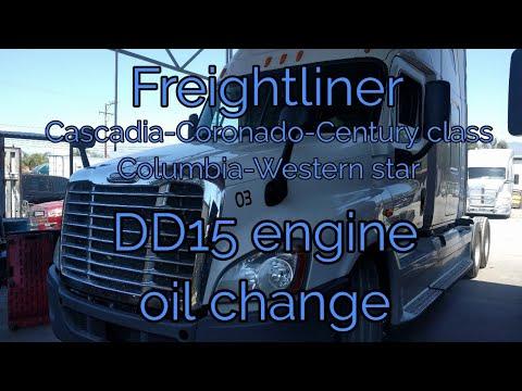 Freightliner Cascadia DD13 DD15 DD16 engine oil change explained OM 471 472 473 MERCEDES BENZ