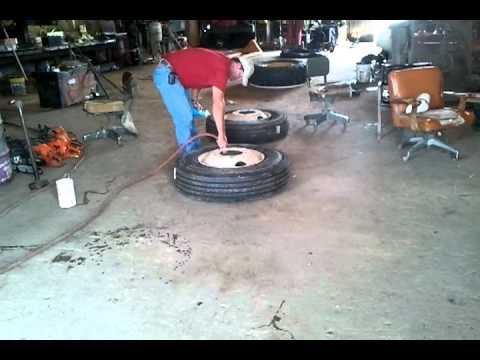 tire repair semi truck