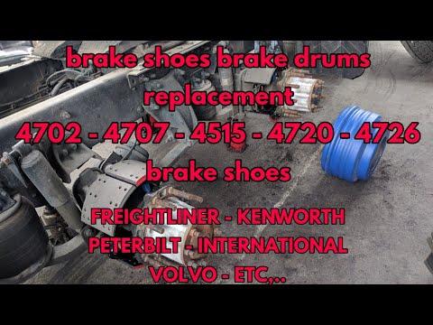 4707 brake shoes replacement Freightliner Kenworth Volvo international PETERBILT 4702 4515 4720 4726