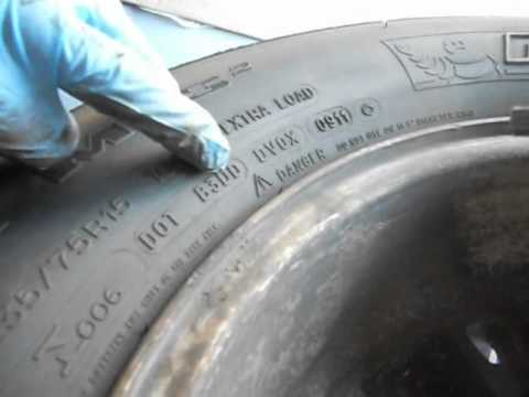 How to read dot dates on car tires AND read where they were made.