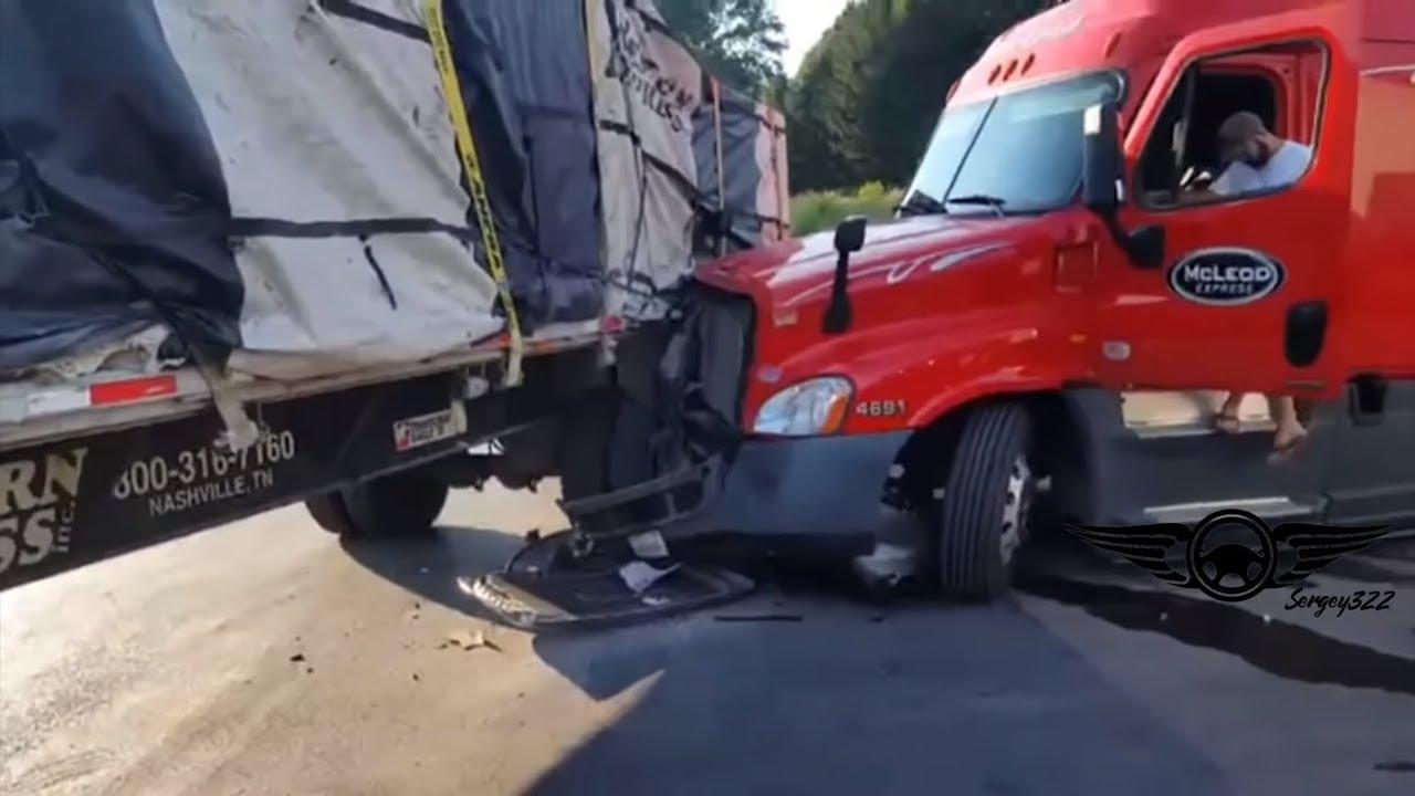 Bad Truck Driver Skills & Truck Stop Park Fails 2018