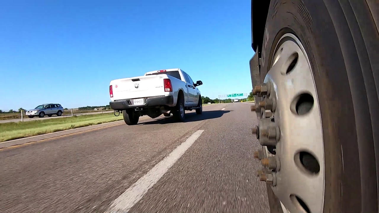 Semi Truck Steer Tire View.