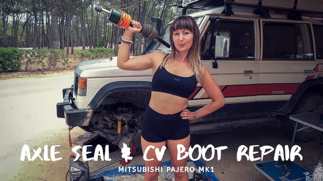 Mitsubishi Pajero MK1 Axle Seal & CV Boot Repair At Basecamp!