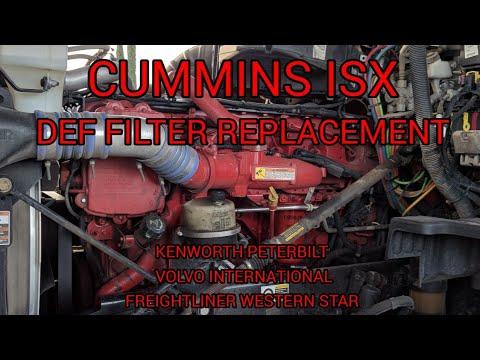 Cummins ISX DEF pump filter replacement Kenworth peterbilt Volvo Freightliner international