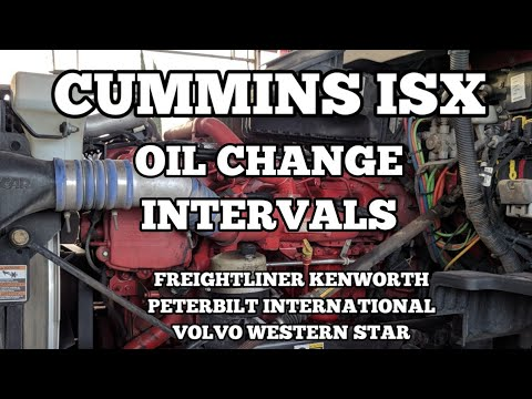 Cummins ISX oil change interval oil type filter mileage extended drains