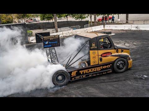 Turbo Truck 2,400 Horsepower Triple Turbo Semi Truck Obliterates its Tires  Hillclimb Beast