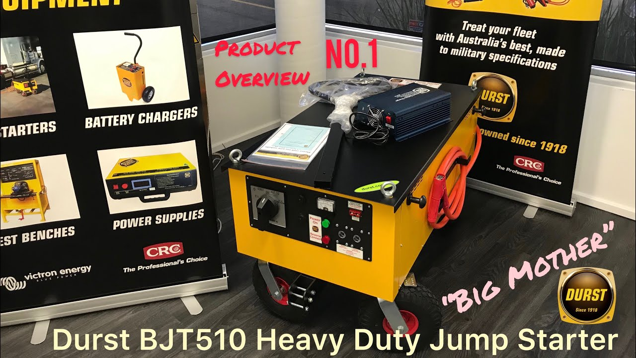 BJT510 Big Mother Heavy Duty Trolley Battery Jump Starter - Durst Product Overviews - No.1