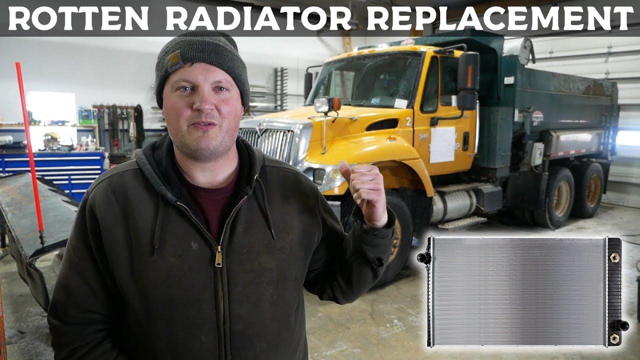 Crusty Plow Truck Gets New Radiator