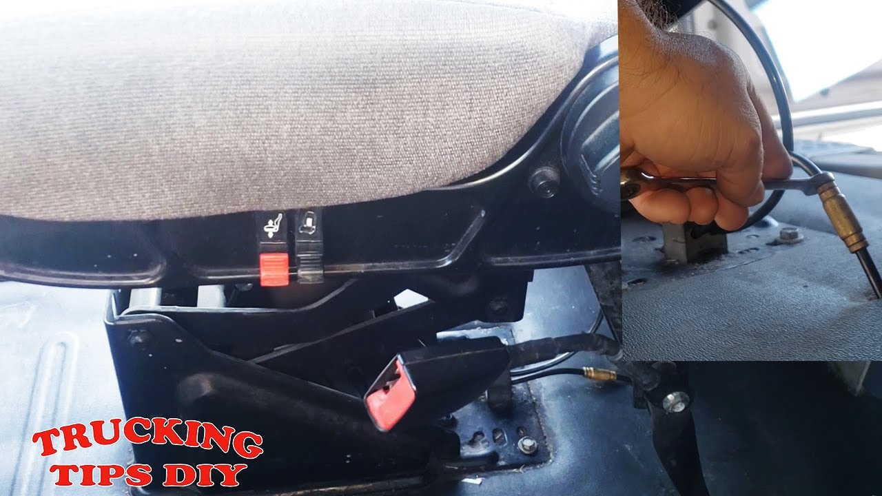 How to remove and replace semi truck seats Freightliner volvo kentworth ect.