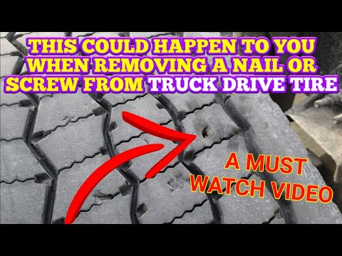 REMOVING A SCREW OR NAIL FROM A TIRE COULD BE WORSE THAN YOU THINK - A MUST WATCH