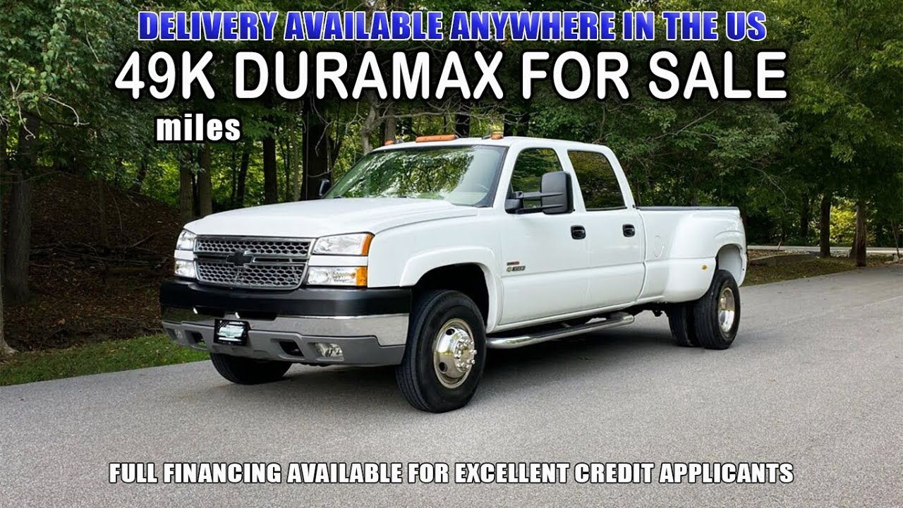 6.6 Duramax LLY For Sale: 2005 Chevrolet Silverado 3500 LT 4x4 Diesel Dually With Only 49k Miles